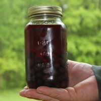 This is our Blueberry Fruited Shine, minus the label. No artificial colors, just the fruit.